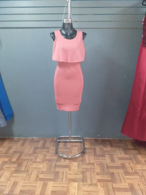 1804 18 Vestido Corto Color Rosa Palo