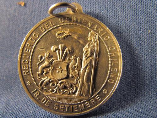1810 1910 recuerdo del centenario chile 18 septiembre alumin