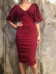 1811 26 Vestido Corto Color Vino