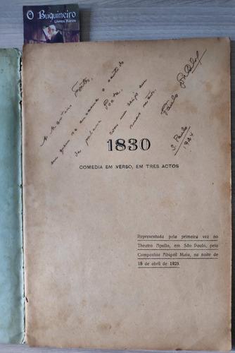1830 - paulo gonçalves - autografado - 1ª edição - 1924