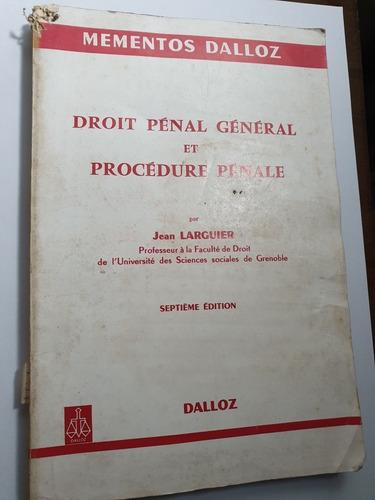 184- droit pénal général et procédure penale - 1977