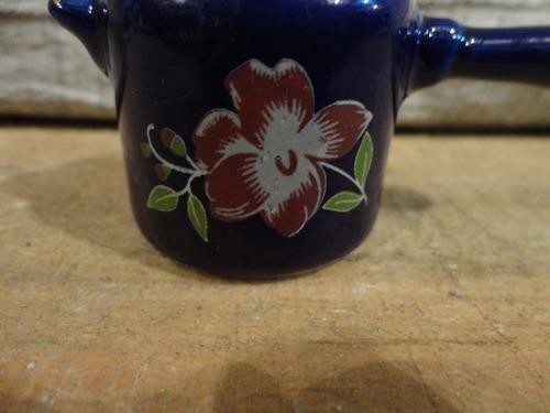 #18651 - bibelot panela pressão porcelana azul cobalto!!!