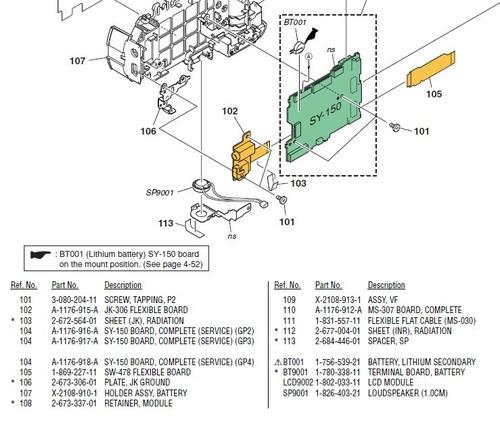 186921121 placa principal câmera sony dsc-h2