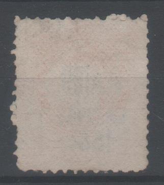 1884 gj76 cuatro s/5c bermellón sobrecarga negra usado