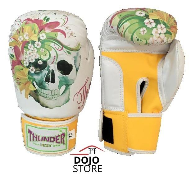 e7a5d2d16 189 Luva Boxe   Muay Thai Thunder Caveira 12oz Feminina - R  119