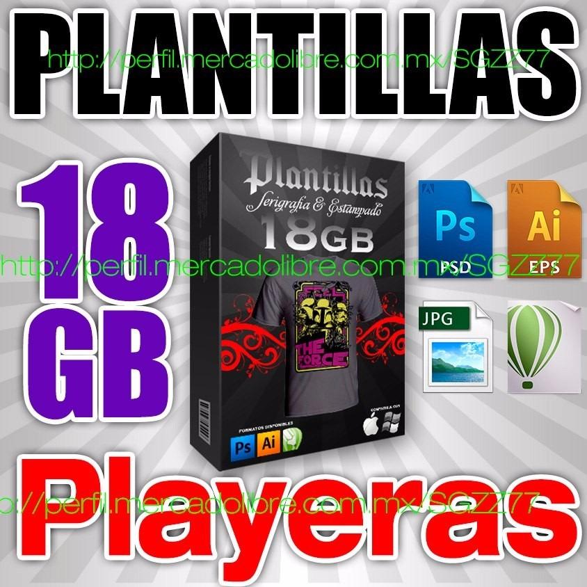 18gb Plantillas Digitalplayeras Photoshop Cdr Eps Serigrafia - U$S ...