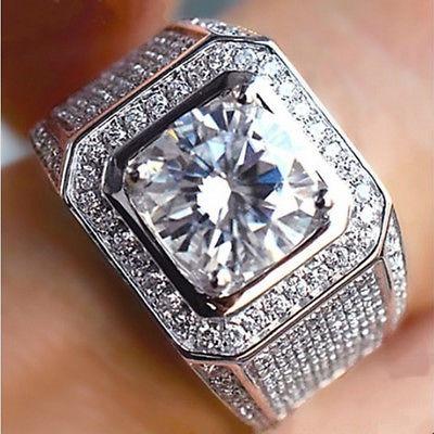 fd155a933325 18k Oro Blanco Plata Eternidad Boda Banda... (us Ring S.) -   18.990 ...
