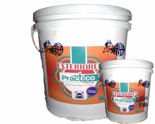 18l + 3,6l pintura elbex latex exterior lavable antihongos !
