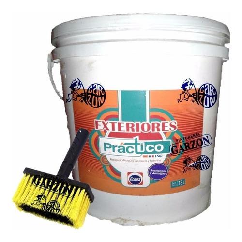 18l pintura elbex latex exterior lavable antihongos + regalo