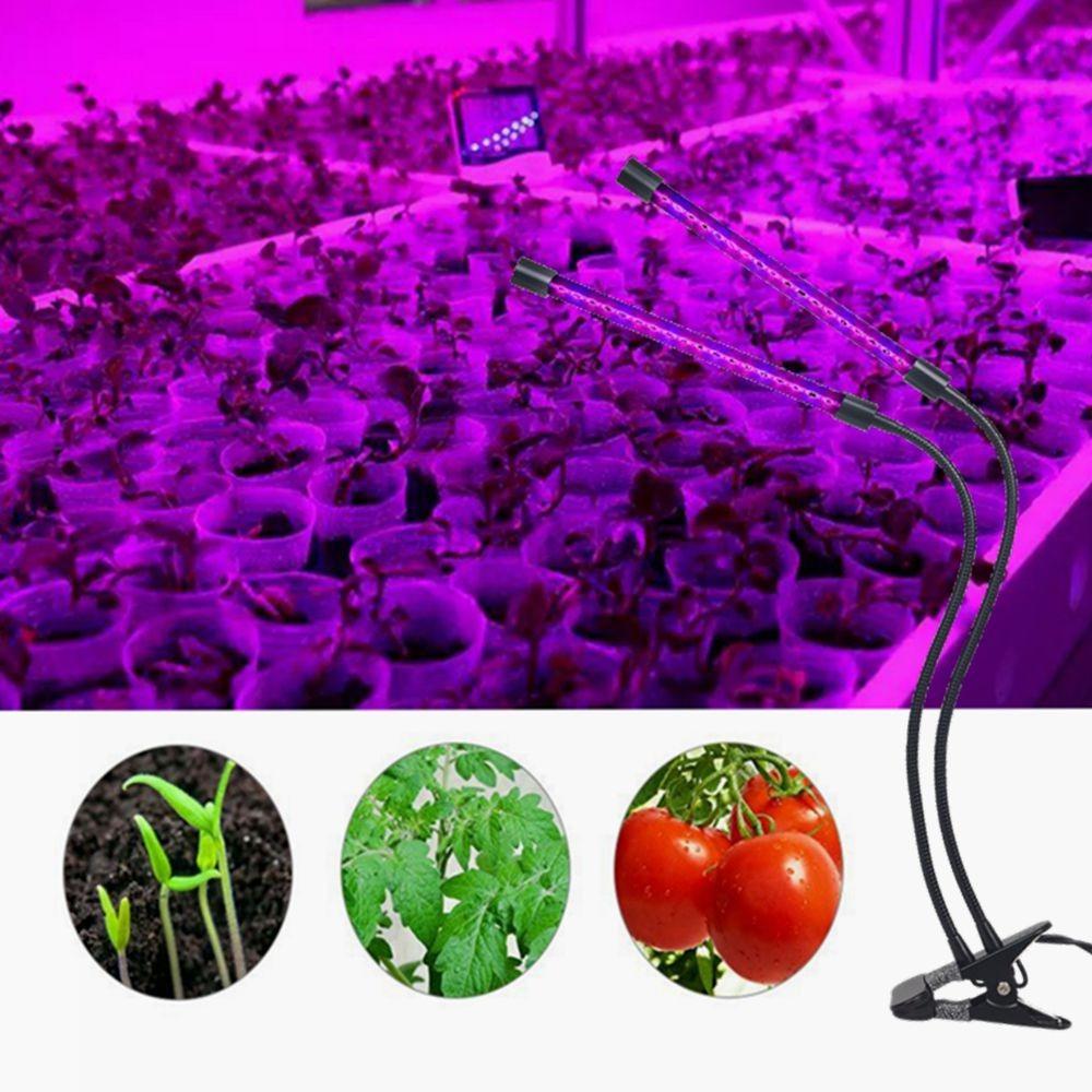sincronización USB 18W 3 cabeza planta crece la luz 5 niveles regulables
