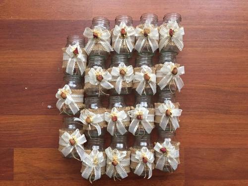 19 frascos de vidrio decoración matrimonio vintage  bautizo