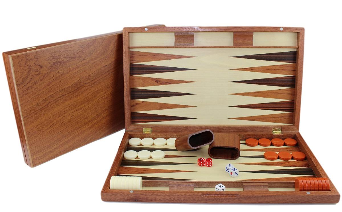 19 Gran Juego De Mesa Clasico Juego De Backgammon Madera D