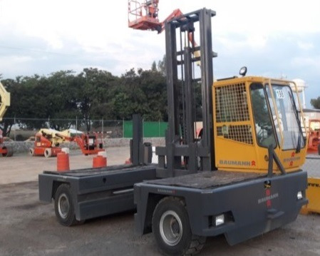 19) montacargas de carga lateral baumann gx70-1660 15500 lbs