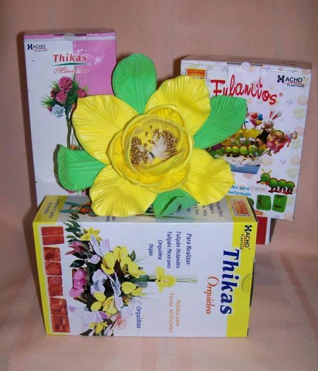 19 Pares Moldes Para Hacer Flores C Goma Eva Mini Orq Ful 575