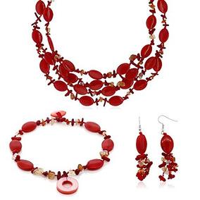9a251ddd3a06 Collar Cadena Con Piedras Color Rojo - Joyas y Bijouterie en Mercado Libre  Argentina