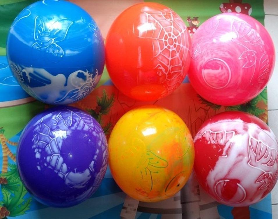 2e2b2ffdb ... vinil coloridas bola grande marmorizadas festas. Carregando zoom.
