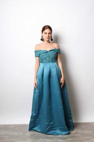 1906 10 Vestido Color Azul Aqua