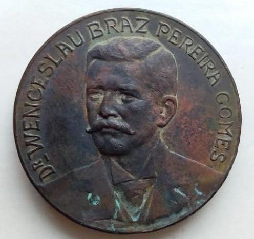1914 1918 medalha wenceslau braz / brazil / girardet / mg