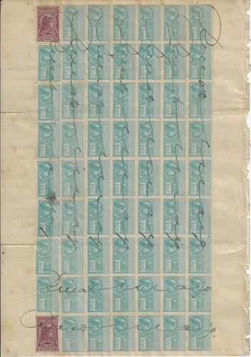 1918 documento registro marcas selo fiscal de são paulo