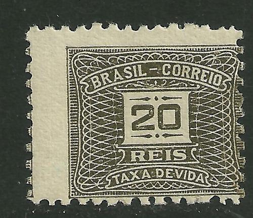 1919/1924 - taxa devida - 20 réis - com goma - rhm x42