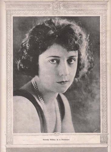 1921 cine mudo foto actriz dorothy phillips argentina raro