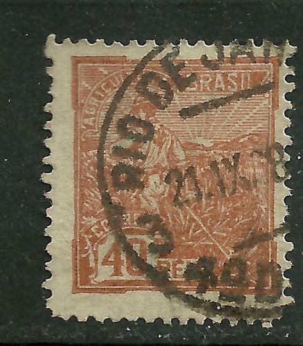 1921/1926 - vovó - 40 réis - filigrana d - rhm 192