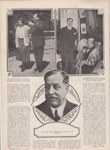 1924 nota luis alberto de herrera con fotos ismael cortinas