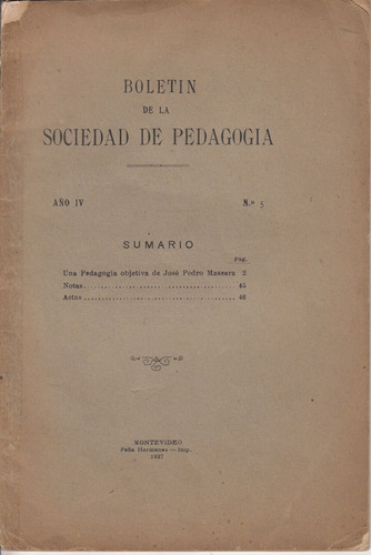 1927 una pedagogia objetiva jose pedro massera ensayo raro