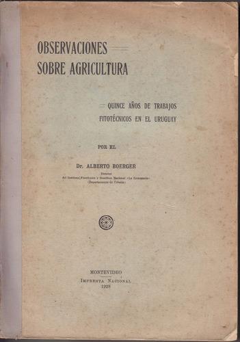1928 agricultura estudios la estanzuela boerger fitotecnia