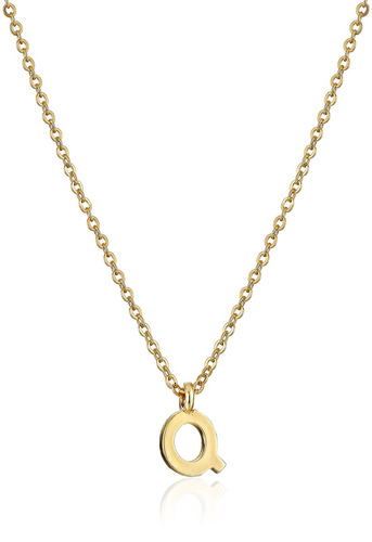 1928 jewelry gold-tone 7mm initial -inchp-inch collar colgan