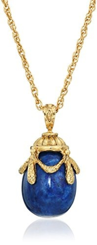 1928 joyería 14k gold-dipped collar pendiente semi-precious