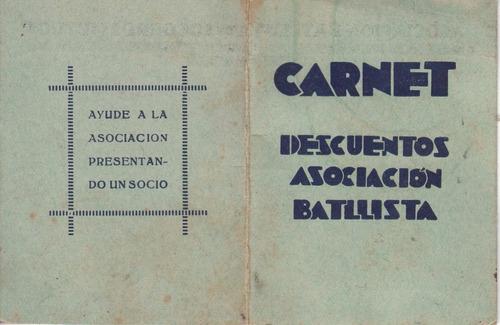 1931 carnet de asociacion batllista de socorros mutuos raro