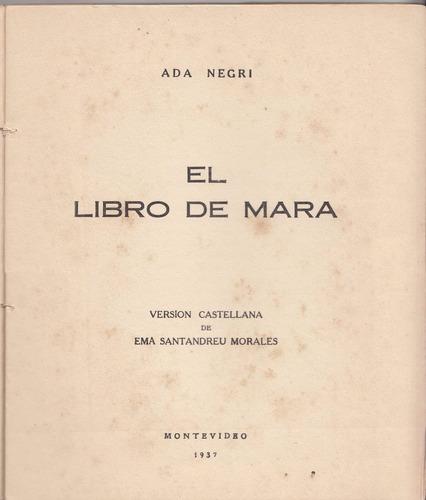 1937 arte tapa modernista libro mara ada negri x santandreu