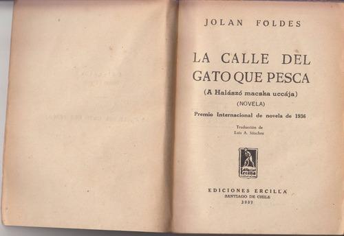 1937 jolan foldes calle gato que pesca chile hungria vintage