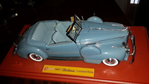 1941 packard convertible blue charlestown collectibles 1/18