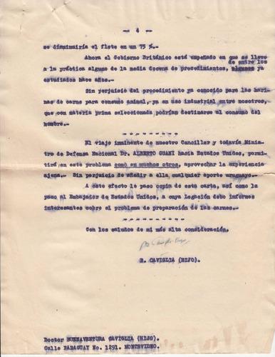 1942 carta de buenaventura caviglia sobre mascaras de gas