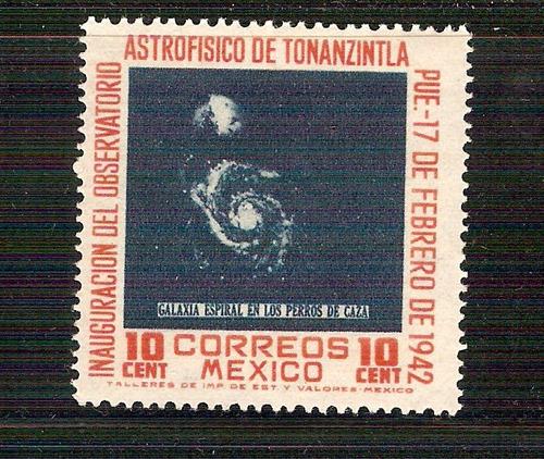 1942 méxico astrofìsico de tonanzintla 10c.  sello nuevo