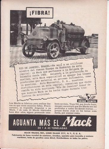 1943 publicidad bomberos rio de janeiro camion mack trucks