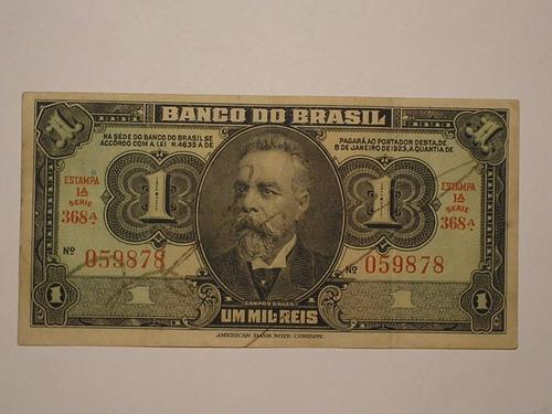 1944 céd. 1 mil rs c-001 da 1ª est. autografada / 059878