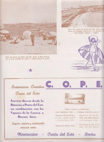 1944 publicidad cope cooperativa omnibus de punta del este