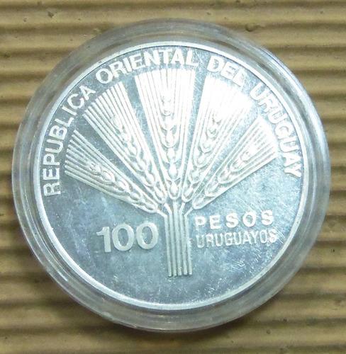 1945 1995 $100 cincuentenario dela fao proof plata