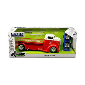 1947 White Red Con Ford Truck Coe Pickup Firestone R3jL54qA