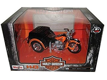 1947 harley davidson servi-car negro con naranja hd person