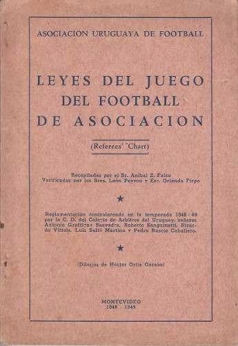 1948 /49 uruguay leyes de juego del futbol de asociacion auf
