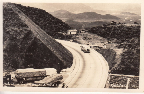 1949 brasil fotografia postal via anchieta sao paulo santos