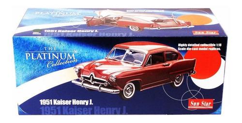 1951 kaiser henry j. verde - escala 1:18 - sun star