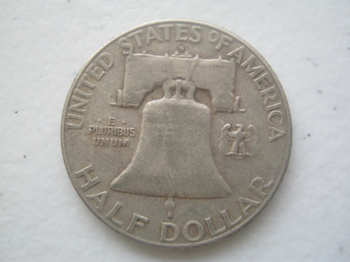 1951 moneda franklin acuñada en san francisco