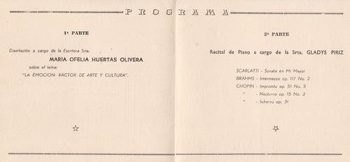 1954 asociacion maldonado programa acto en  liceo san carlos