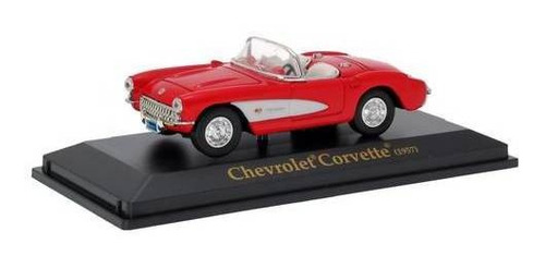 1957 chevrolet corvette vermelho - escala 1:43 - yat ming