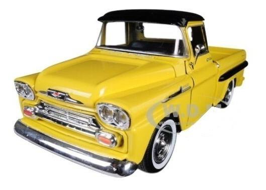 coche modelo 1:24//Motormax Chevrolet Apache fleetside pick up 1958 negro